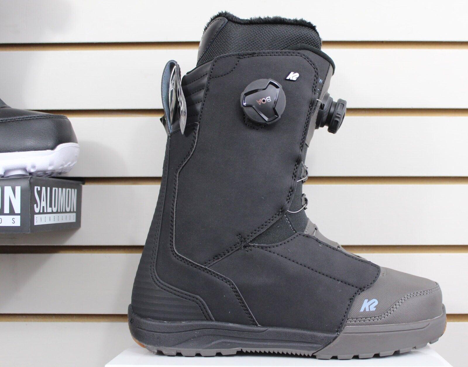 K2 Boundary Double Boa Snowboard Boots Men's Size 9 Black Ne