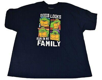Teenage Mutant Ninja Turtles Mens Good Looks Run In My Family Shirt New 3XL, 4XL](Ninja Turtle Family)