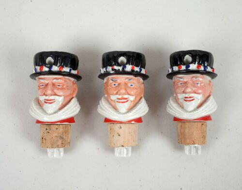 Lot of 3 Beefeater Gin Bottle Pourers Toppers Regicor Made in England