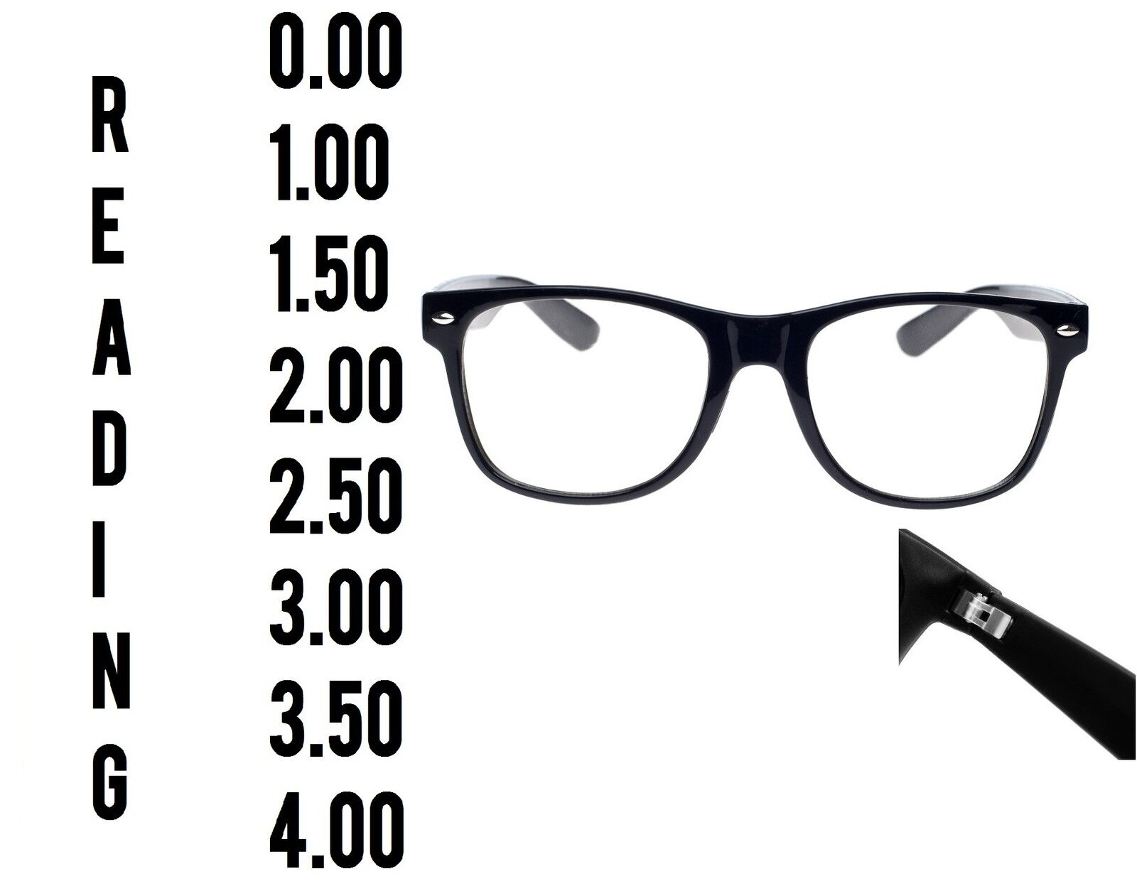 Lesen Brille 0.0 - 4.00 Unisex Herren Damen Designer Mode Quadrat Frühling
