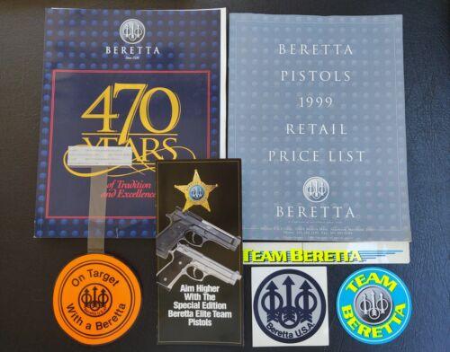 1999 Beretta Firearms Catalog + Price List + Stickers + Brochure + Pamphlet