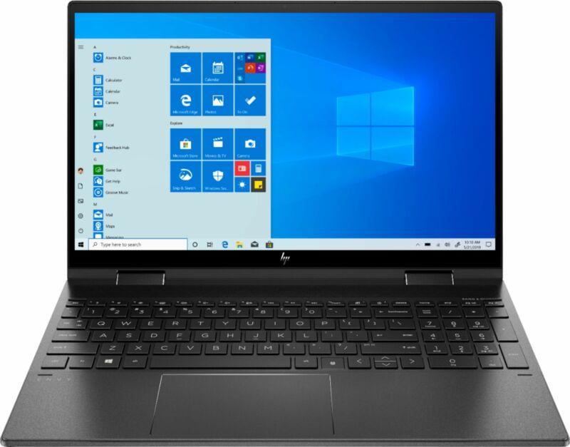 """HP - ENVY x360 2-in-1 15.6"""" Touch-Screen Laptop - AMD Ryzen 5 - 8GB Memory - ..."""