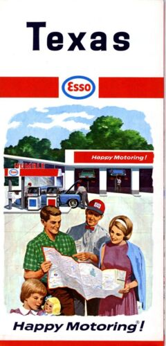 1966 Humble / Esso Road Map: Texas NOS