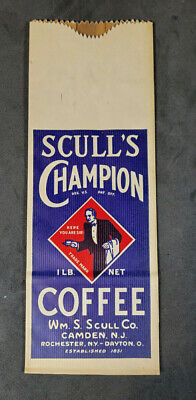 1920s Style Purses, Flapper Bags, Handbags Vintage 1920s-30s Scull's Champion Coffee Bag Boscul Bosco Camden New Jersey $11.99 AT vintagedancer.com