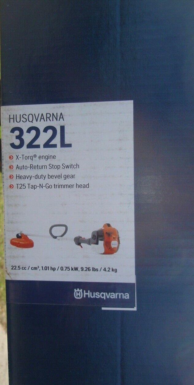 Husqvarna 322L 22.5 cc Gas Powered Straight Shaft String Tri
