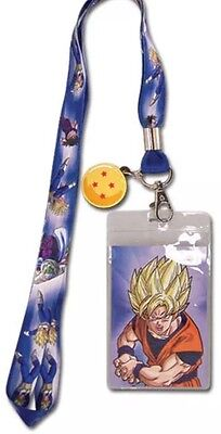 Authentic Dragon Ball Z Four Star Goku Group Badge Holder Lanyard Dbz Dragonball