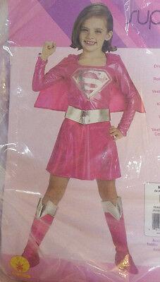 Supergirl Hot Pink Girl Halloween Costume Rubies NWT M Medium 8-10 Super Heroes](Hot Halloween Girl)