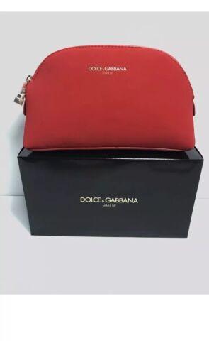 776e282971 DOLCE GABBANA Red Cosmetic Makeup Case Pouch Purse Clutch Bag Handbag фото