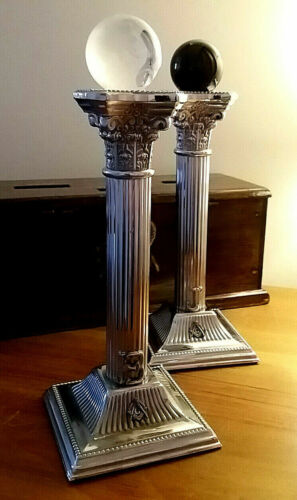 Silver Pltd Corinthian Pillars @ Porchway or Entrance to King Solomons Temple