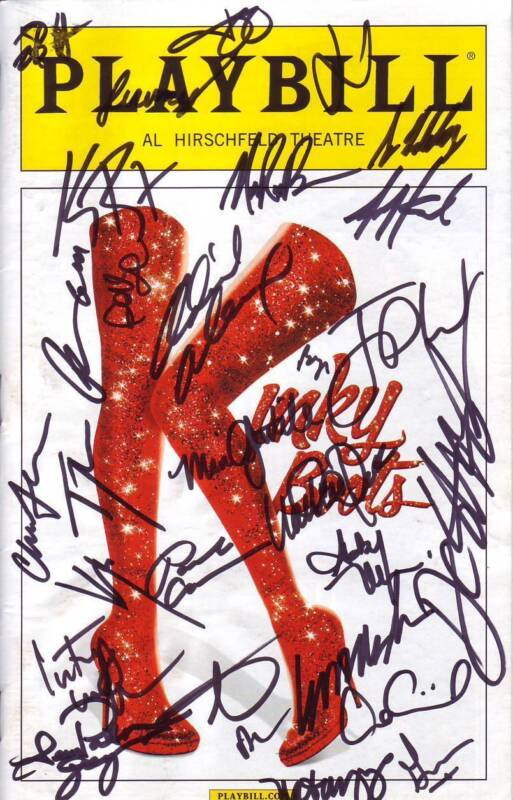 Kinky Boots Signed Autographed Cast Playbill