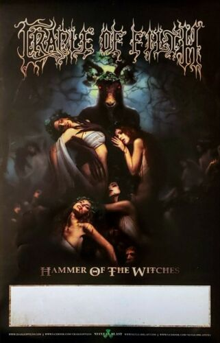CRADLE OF FILTH Hammer of the Witches Ltd Ed RARE Tour Poster +FREE Metal Poster
