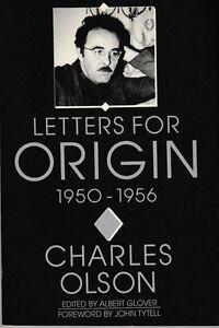 Letters-for-Origin-1950-1956-PB-1989-Charles-Olson-Poetry