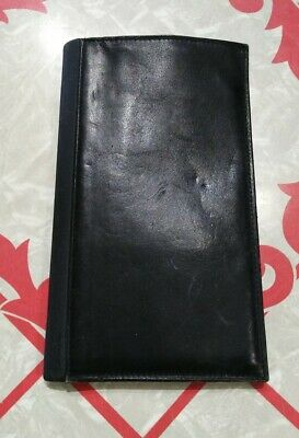 Vintage Samsonite Leather Breast Pocket Coat Wallet Black