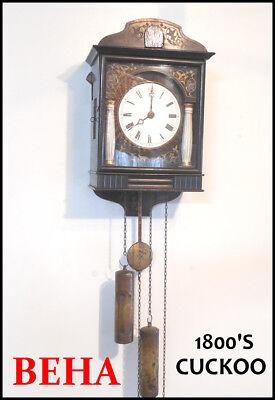 ANTIQUE BEHA CUCKOO CLOCK--