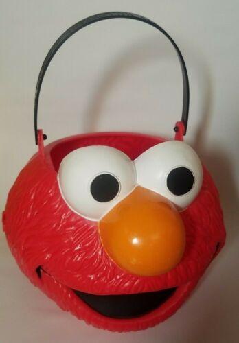 Elmo Face Red Muppet 2005 Sesame Street Easter Basket Halloween Treat Bucket