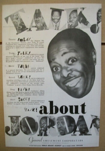 Louis Jordan 1945 Ad- theater trade movie record song talk General Amusement