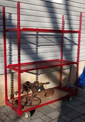 Heavy Duty Commecial Rolling Rack Cart Shelf