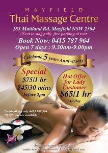 Mayfield thai massage centre $65/hr and $ 75/hr Mayfield West Newcastle Area Preview