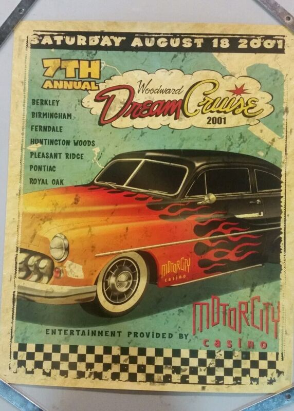 2001 7th Annual Woodward Dream Cruise poster
