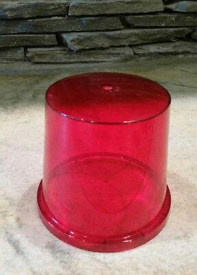 Vtg Nos Stratolite 79 Red Len Beacon Dome Emergency Light Police Fire Dz 77-257