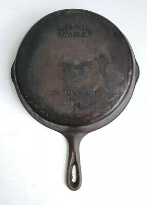 Wagner Wear #8 Cast Iron Skillet Made In The USA Cookware 10 1/2 Inch , used for sale  Shipping to Canada