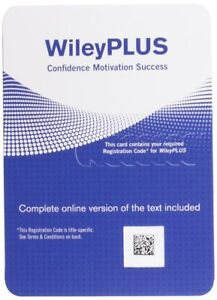 Wiley Plus Access Code - Guaranteed to Work With Any Course - Same Day Delivery