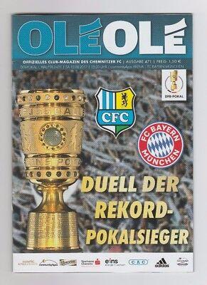Orig.PRG     DFB Pokal  2017/18   CHEMNITZER FC - FC BAYERN MÜNCHEN  !!  SELTEN