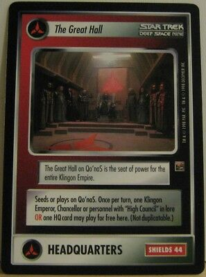 Star Trek TNG CCG Dominion The Great Hall Card