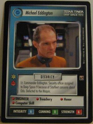 Star Trek TNG CCG Dominion Michael Eddington Card