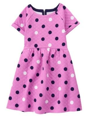 Gymboree Girls Tails of the City Quilted Polka Dot Dress NWT Size 7