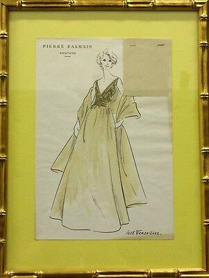 Original Pierre Balmain Couture No.415 Versailles Couture Fashion Plate