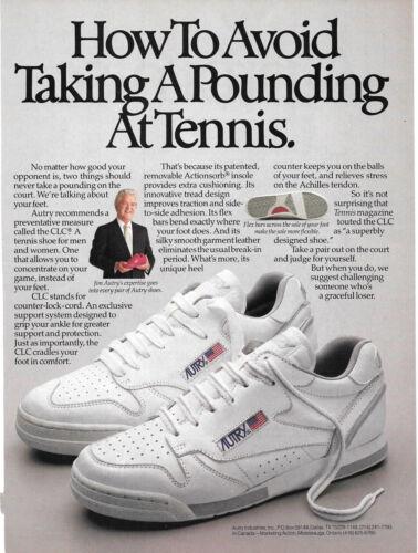 1986 Autry Tennis Shoes Vintage Print Ad