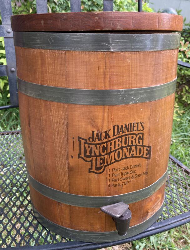 Vintage Jack Daniels Lynchburg Lemonade Wooden Dispenser Whiskey Barrel Nice