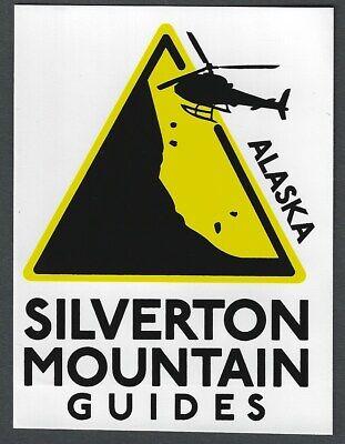 SILVERTON MOUNTAIN GUIDES ALASKA SKI SNOWBOARD AREA RESORT STICKER DECAL