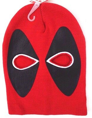 Marvel Deadpool Adult Stylish Halloween Costume Face Mask 2 Hole Winter Hat NWT - Face Hole Halloween
