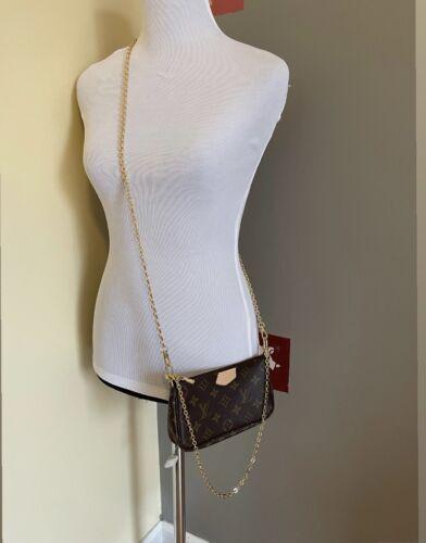Louis Vuitton MONOGRAM SMALL POCHETTE ACCESSOIRES CLUTCH WRISTLET CROSSBODY BAG
