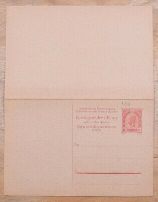 MayfairStamps Austria 10 Heller Mint Stationery Reply Card wwo79401