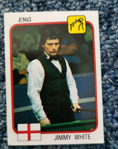 JIMMY WHITE   Panini Supersport Rare Unused  Sticker 1980s Snooker