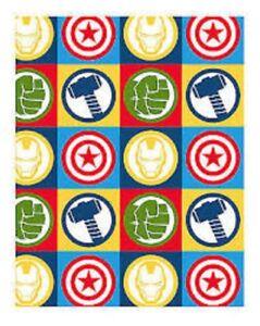 Oficial-Ninos-Marvel-Vengadores-034-Escudo-034-Giratorio-Dormitorio-Manta-polar