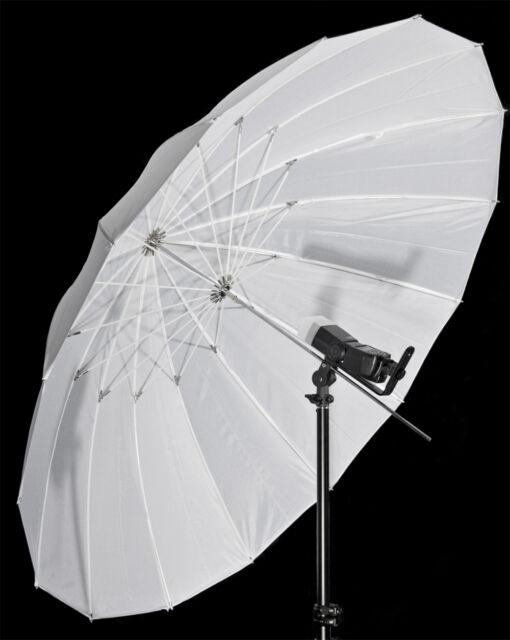 """Flash Umbrella White Parabolic Type 59/64"""" 150/162cm (diameter/arc)"""