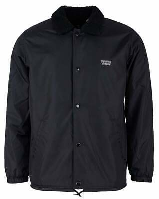 Jacket Fleece Lined Water Repellent (Levi's Men's Sherpa Fleece Lined Water Repellent Snap Up Coach Jacket 35474-0003 )