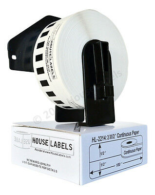 1 Roll Of Dk-2214 Brother-compatible Continuous Labels With Reusable Cartridge