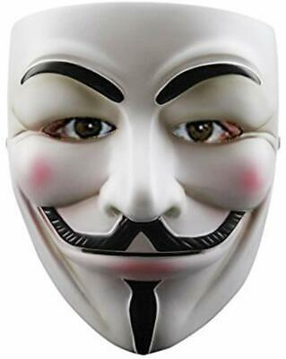 V for Vendetta Anonymous Guy Fawkes Resin Fancy Cool Party Costume Cosplay Mask
