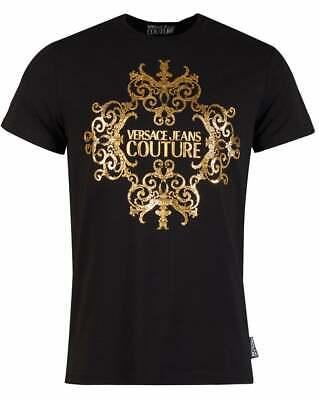 VERSACE JEANS COUTURE Baroque Foil Centre Crew Neck Tshirt Size XXL RRP: £115.00