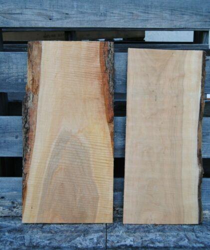 2pc Live Edge Cherry Craft Wood Slabs, Cutting Board Blank, Kiln Dried Lumber