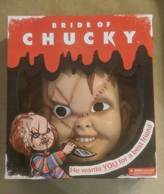 NIB Child's Play Bride of Chucky adult mask costume official licensed Mezco - Chuckie Mask