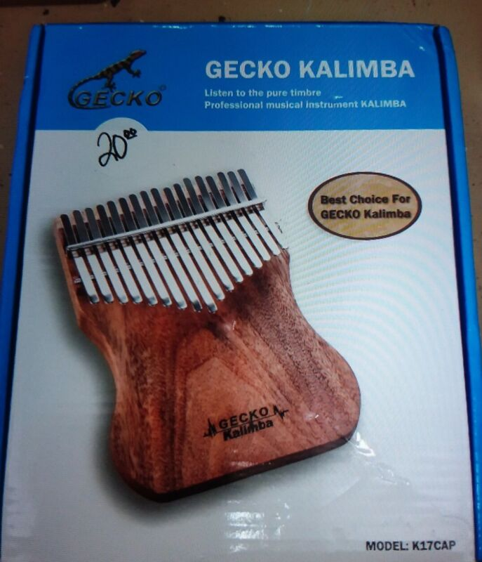 Gecko Kalimba K17  Musical Hand Percussion Instrument. Pre-Owned.
