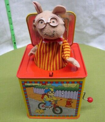 ARTHUR jack-in-the-box Aardvark toy Marc Brown cartoon 1998 music PBS works for sale  Toledo