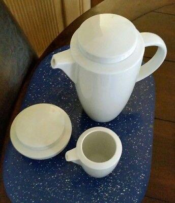 Thomas Vario Weiss Kaffeekanne, Zuckerdose und Milchkännchen