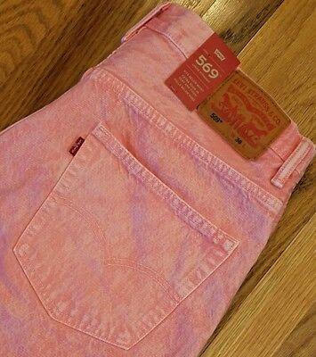 Levi's 569 Mens Loose Straight Denim Jean Shorts 355690306 Sz 36 Pink THESPOT917